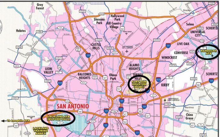 Lackland Texas Map