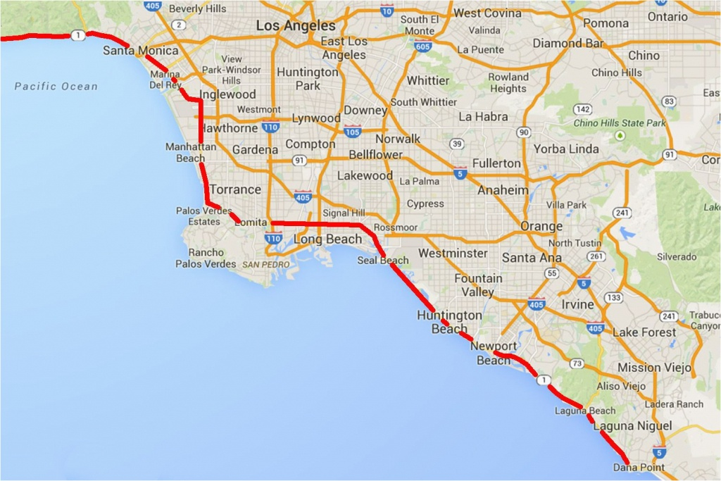 Laguna Beach California Map   Secretmuseum - Laguna Beach California Map