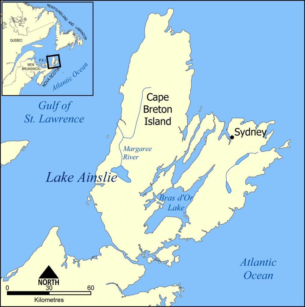 Lake Ainslie - Wikipedia - Printable Map Of Cape Breton Island