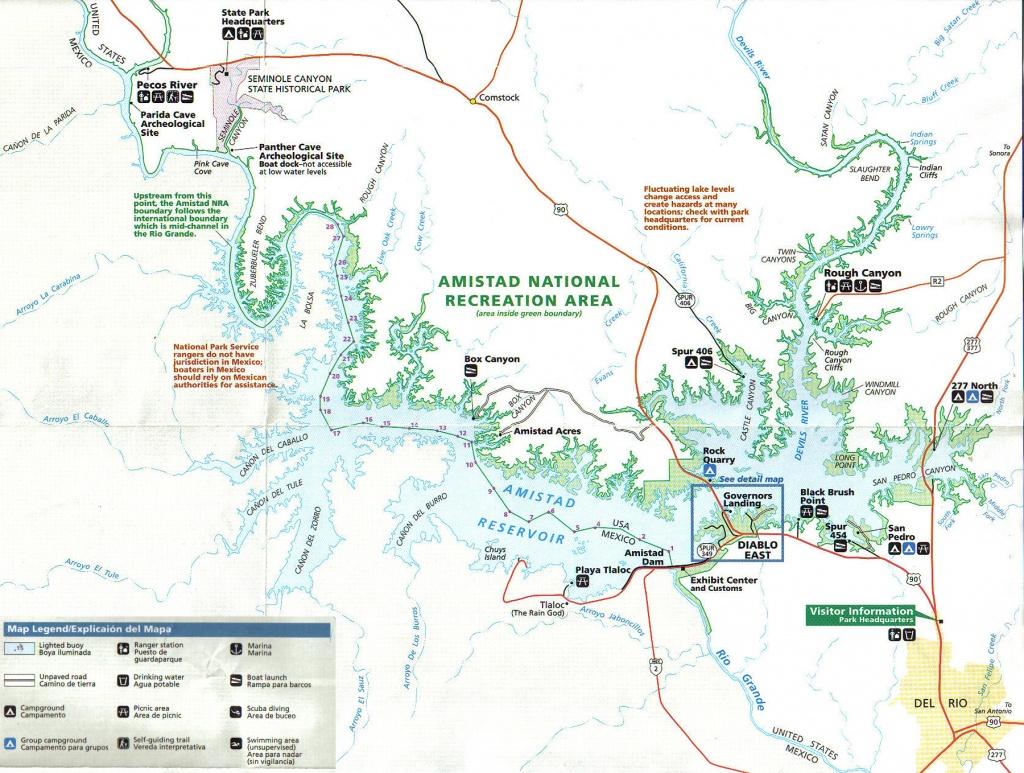 Lake Amistad Fishing Guide-Amistad Bass Fishing Guide-Lake Amistad Tx - Texas Lake Maps Fishing