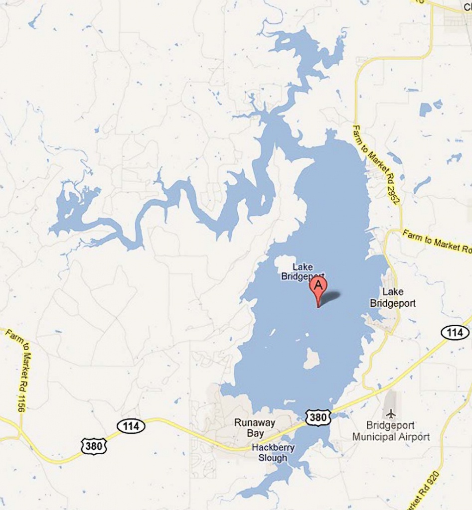 Lake Bridgeport - Bridgeport Texas Map