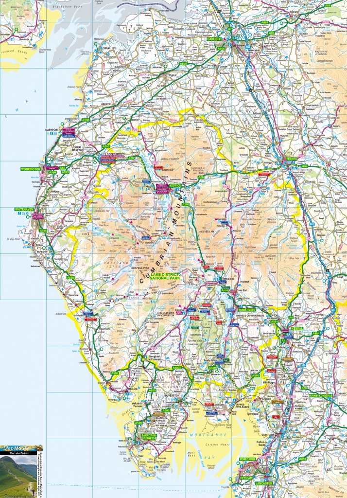 Lake District Offline Map, Incuding Windermere, Ambleside, Ullswater - Printable Os Maps