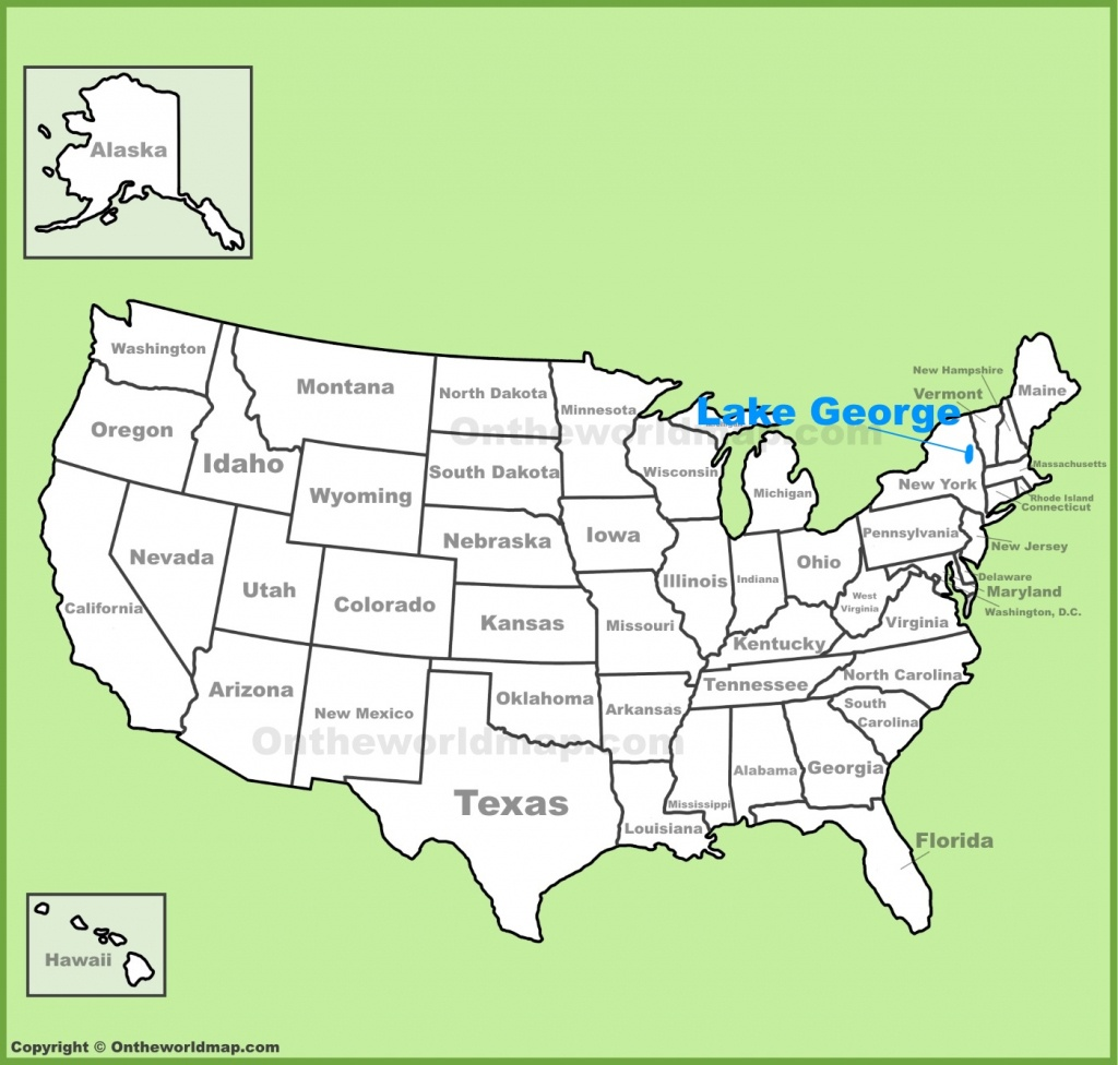 Lake George Location On The U.s. Map - Lake George Florida Map