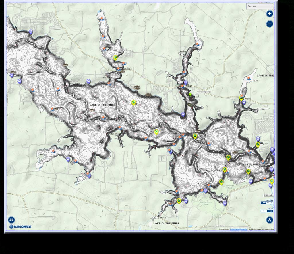 Lake O' The Pines | East Texas Anglers & Fishing Club - Lake Of The Pines Texas Map