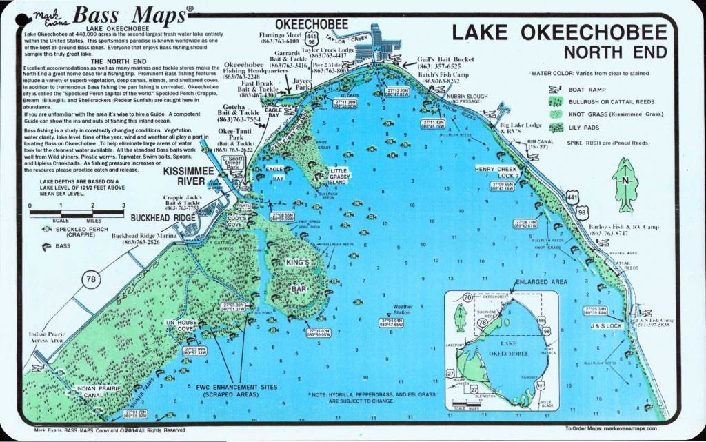 Lake Okeechobee Map | Lake Okeechobee North (North End & Lakeport - Fishing Map Of Lake Okeechobee Florida