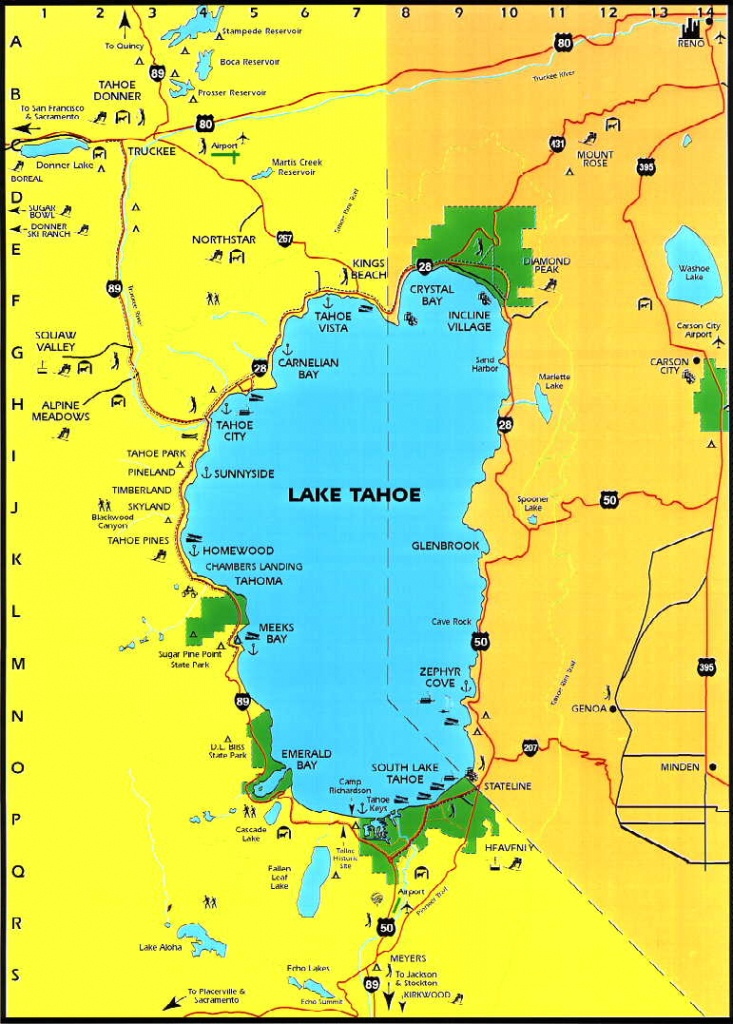 Lake Tahoe Area Maps   Detailed Lake Tahoe Area Mapregion - Lake Tahoe California Map
