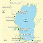 Lake Tahoe Campground Map - California - California Camping Map