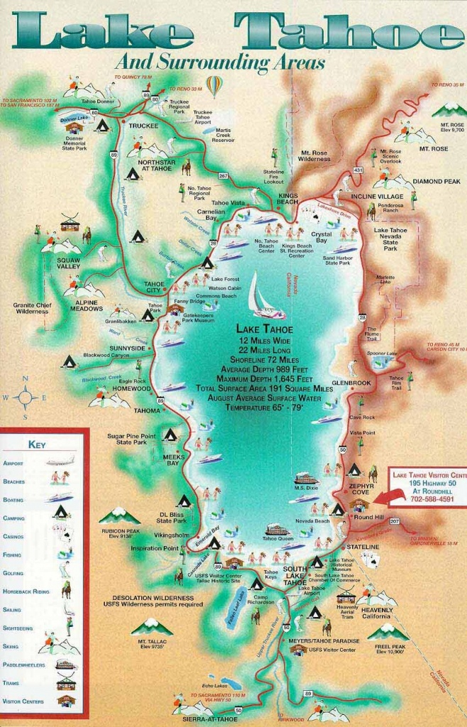 Lake Tahoe Map Camped At The Lake When I Was A Teenager In - South Lake Tahoe California Map