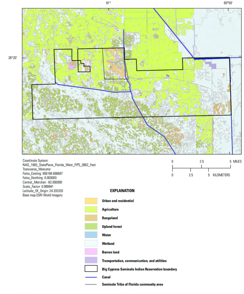 Land Use In The Big Cypress Seminole Indian Reservation, Florida - Florida Land Use Map