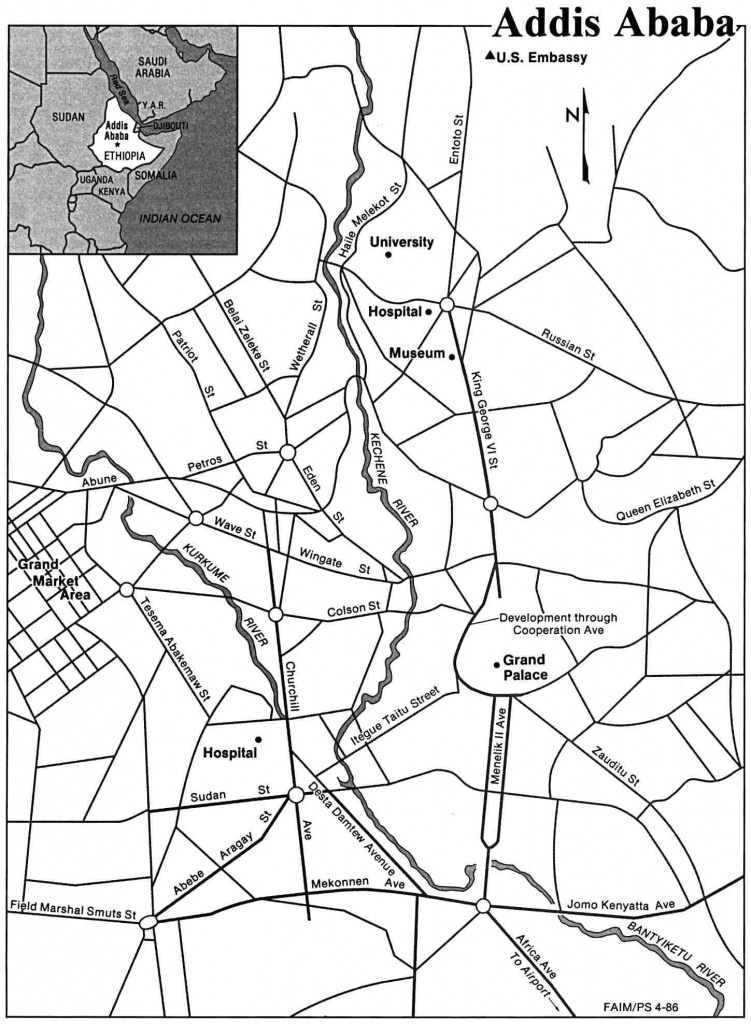 Large Addis Ababa Maps For Free Download And Print   High-Resolution - Printable Map Of Ethiopia