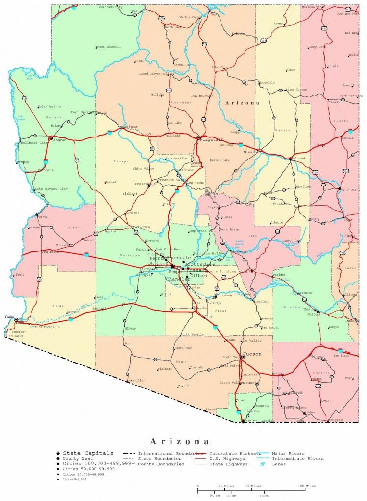 Large Arizona Maps For Free Download And Print | High-Resolution And - Printable Map Of Arizona