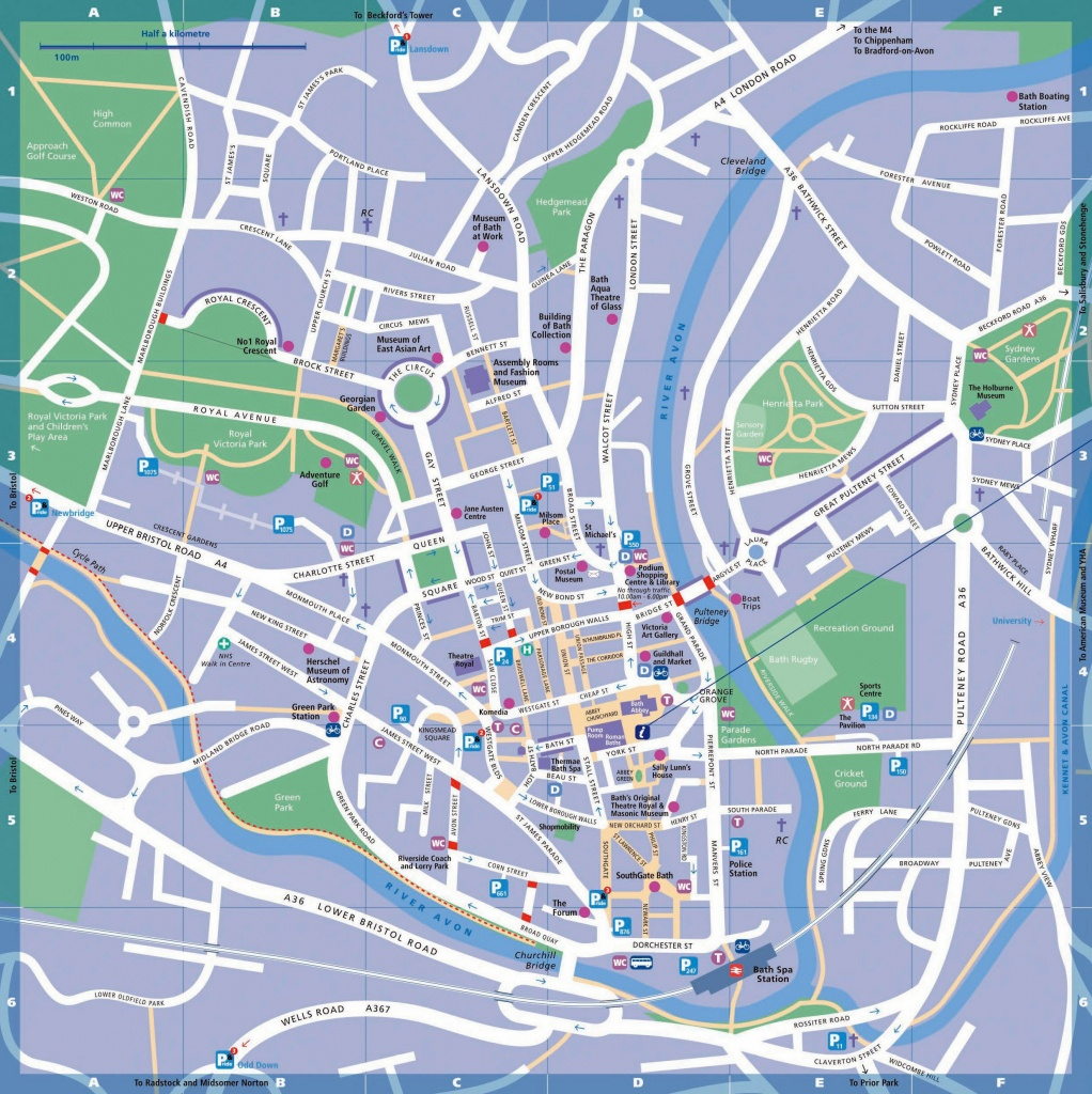 Large Bath Maps For Free Download And Print | High-Resolution And - Bristol City Centre Map Printable