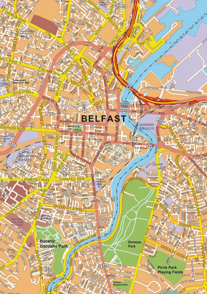 Large Belfast Maps For Free Download And Print | High-Resolution And - Belfast City Map Printable