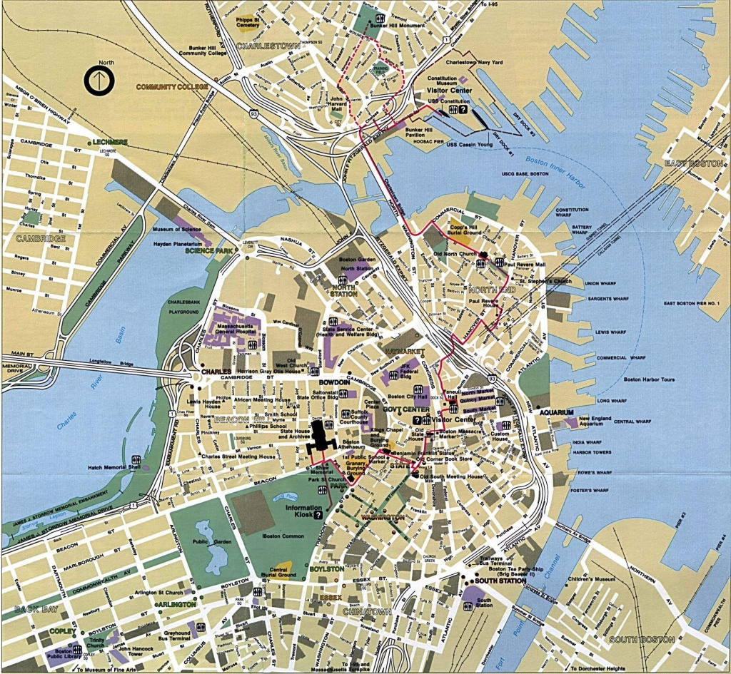 Large Boston Maps For Free Download And Print | High-Resolution And - Printable Map Of Boston Attractions