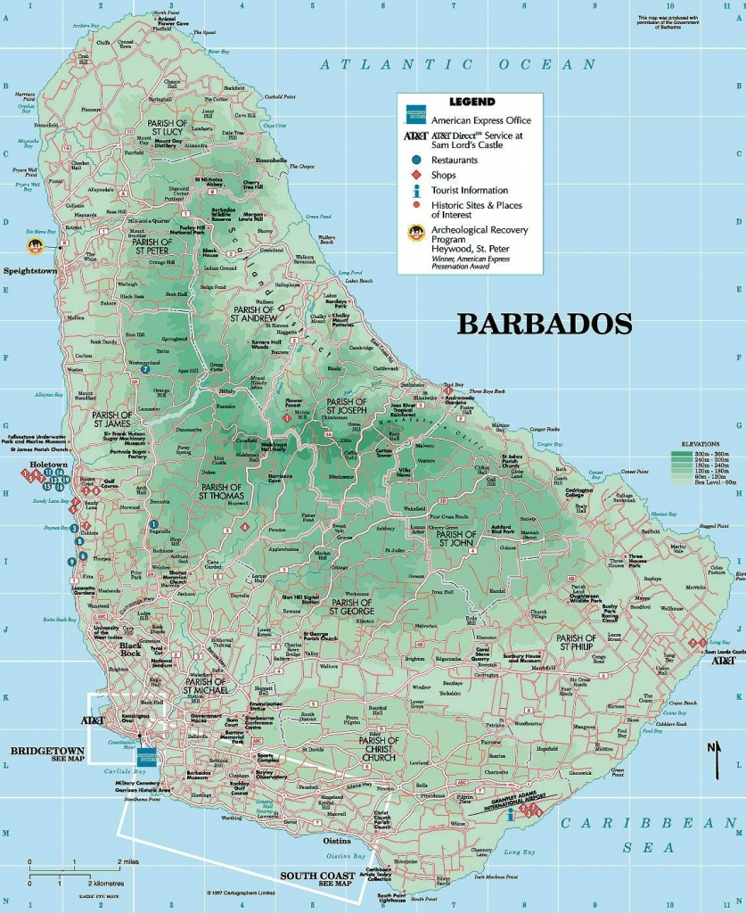 Large Bridgetown Maps For Free Download And Print | High-Resolution - Printable Map Of Barbados