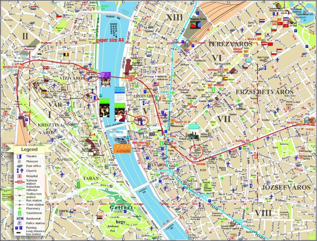 Large Budapest Maps For Free Download And Print   High-Resolution - Budapest Street Map Printable