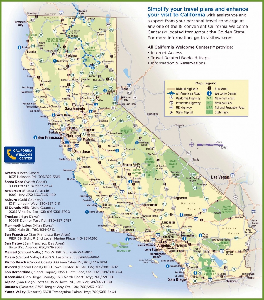Large California Maps For Free Download And Print | High-Resolution - California State Campgrounds Map