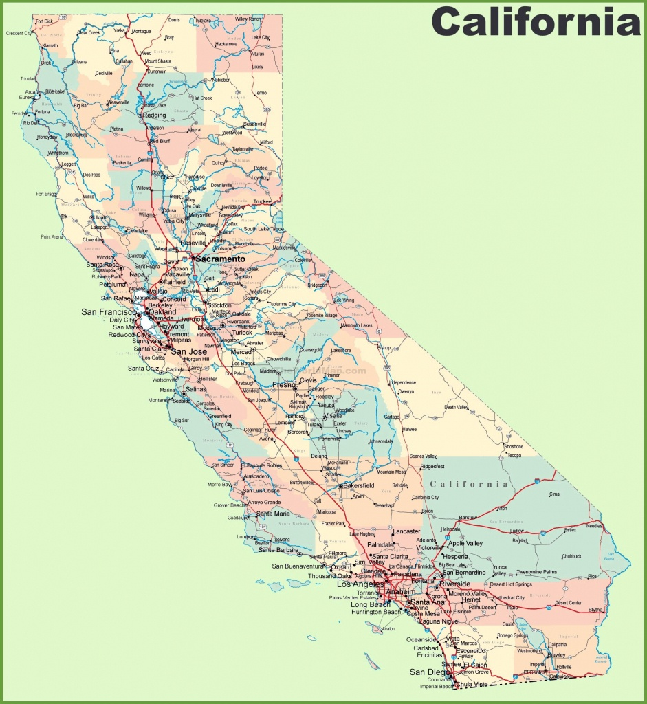 Large California Maps For Free Download And Print | High-Resolution - Charming California Map