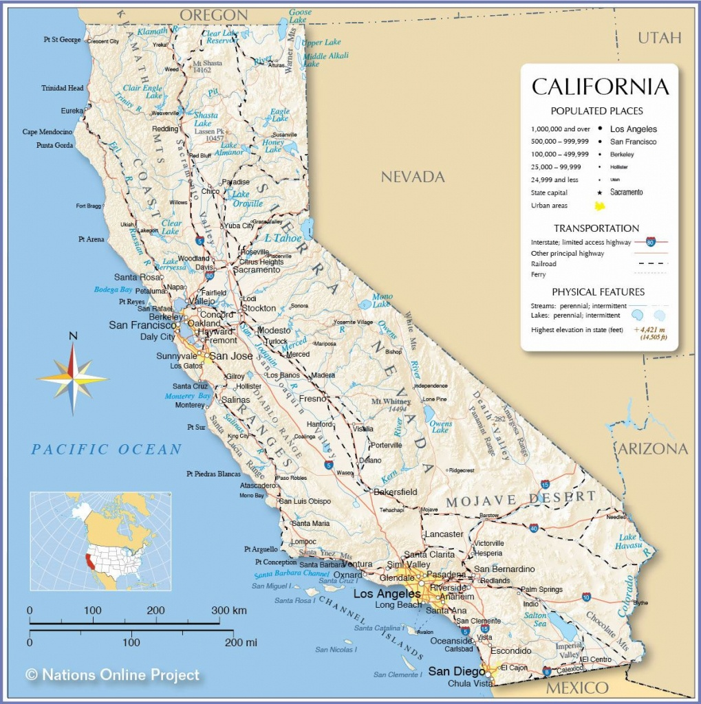 Large California Maps For Free Download And Print | High-Resolution - Map Of California Coast Cities