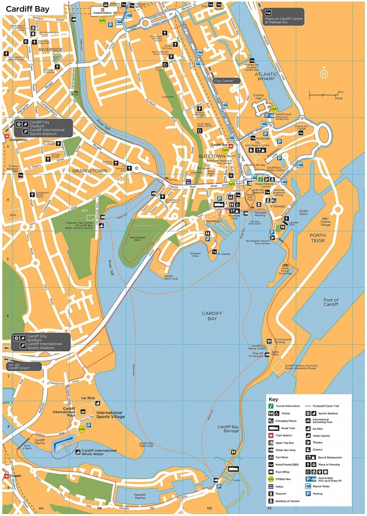 Large Cardiff Maps For Free Download And Print | High-Resolution And - Printable Map Of Cardiff