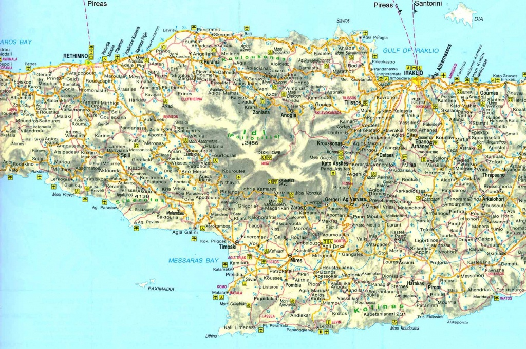 Large Crete Maps For Free Download And Print   High-Resolution And - Printable Map Of Crete
