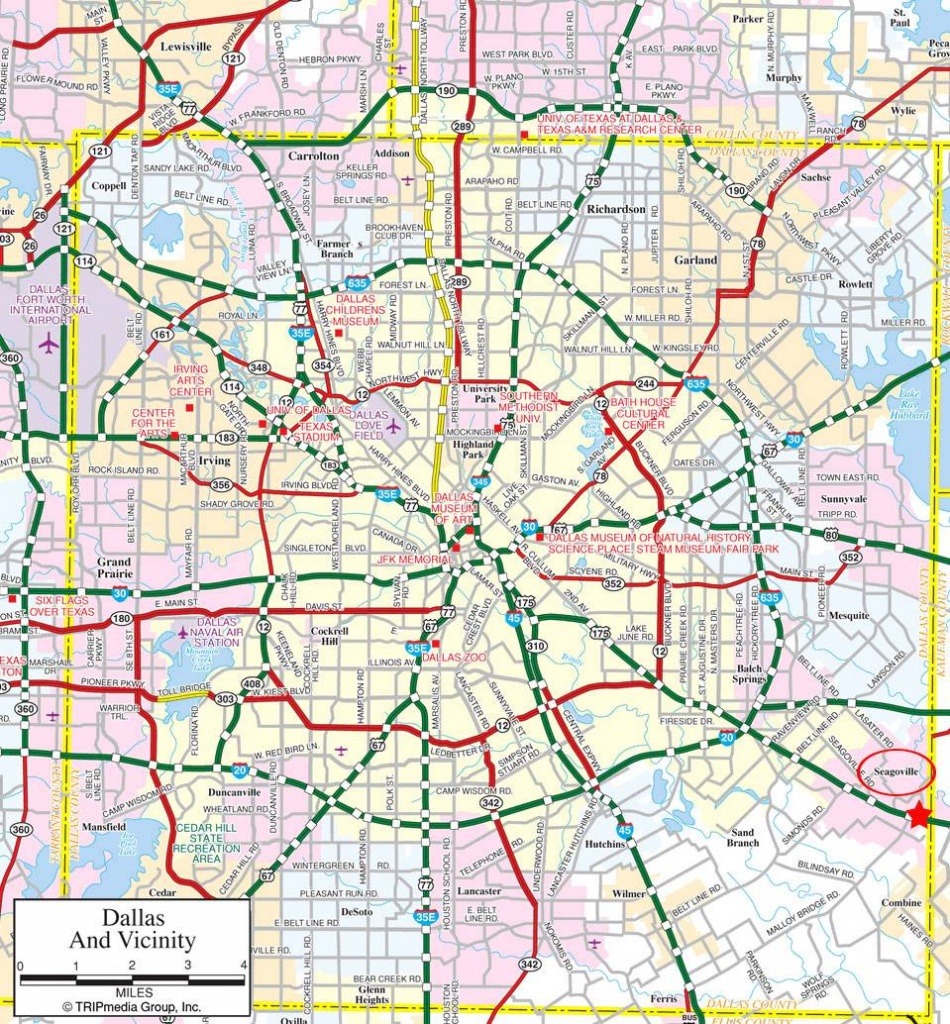 Large Dallas Maps For Free Download And Print | High-Resolution And - Printable Map Of Dallas Fort Worth Metroplex