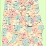 Large Detailed Map Of Alabama   Printable Map Of Alabama