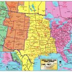 Large Detailed Map Of Area Codes And Time Zones Of The Usa. The Usa   Printable Us Map With Time Zones And Area Codes