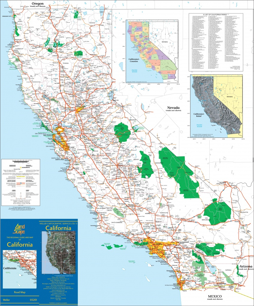 Large Detailed Map Of California With Cities And Towns - California State Map With Cities