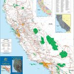 Large Detailed Map Of California With Cities And Towns   Printable Map Of California Cities