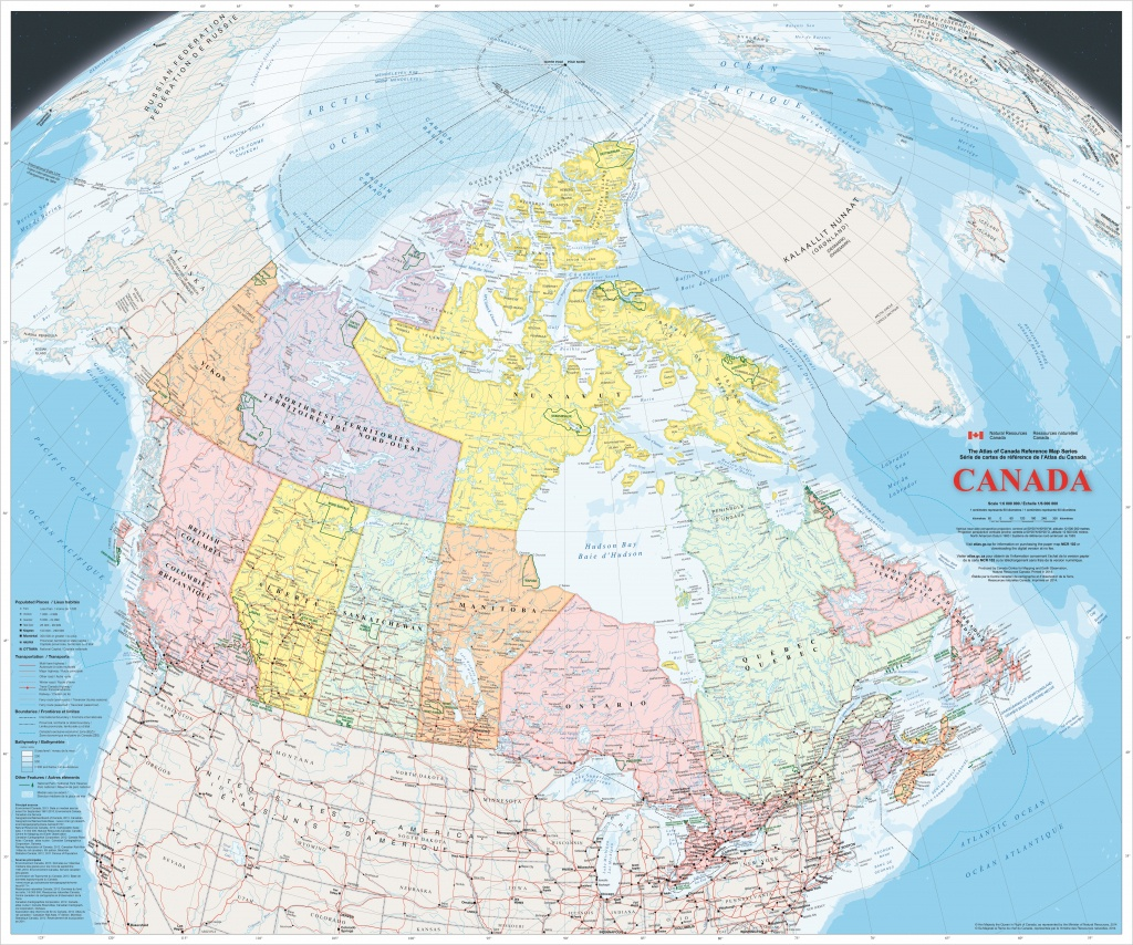 Large Detailed Map Of Canada With Cities And Towns - Large Printable Map Of Canada