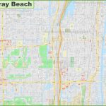 Large Detailed Map Of Delray Beach   Del Ray Florida Map