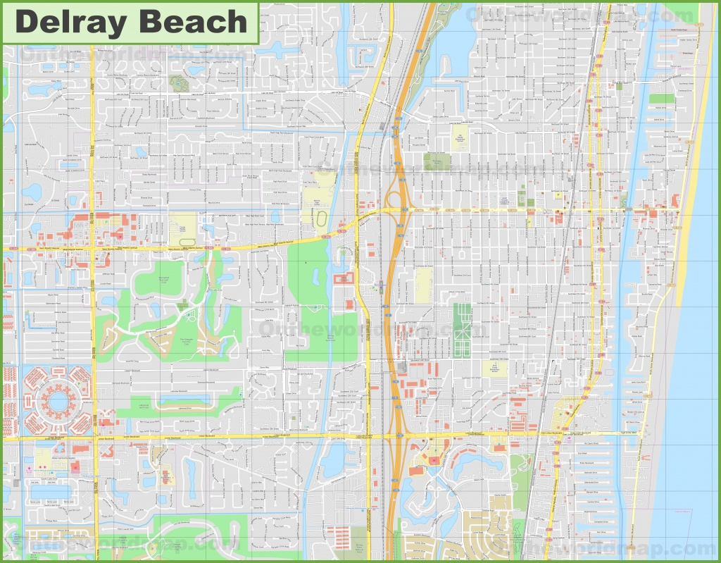Large Detailed Map Of Delray Beach - Del Ray Florida Map