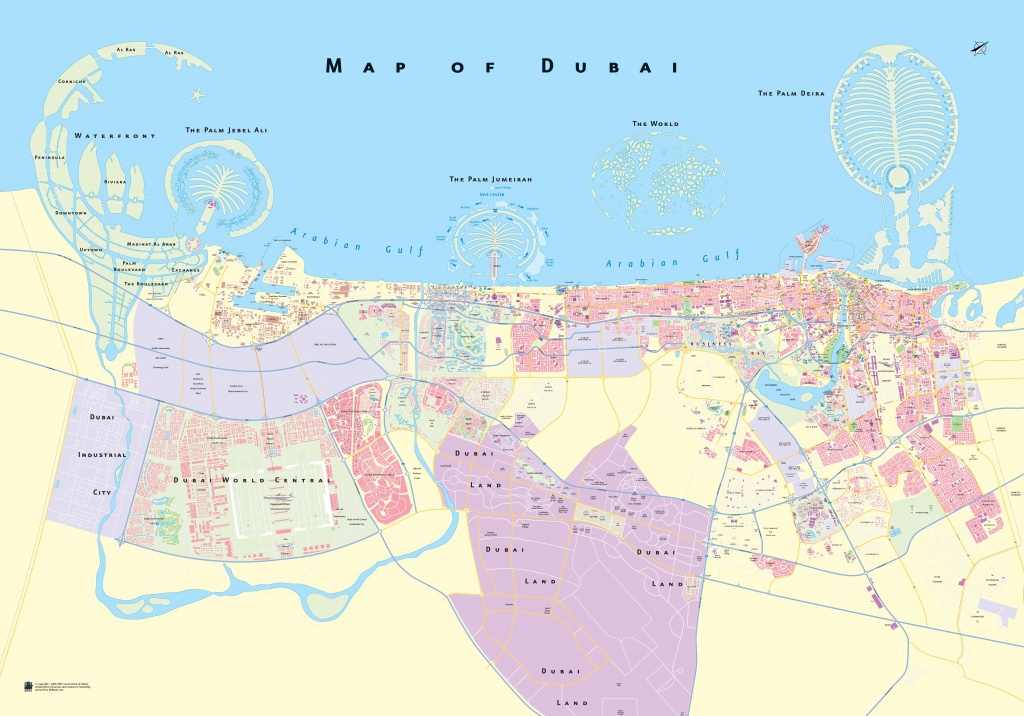 Large Detailed Map Of Dubai - Printable Map Of Dubai