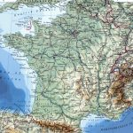 Large Detailed Map Of France With Cities   Printable Road Map Of France