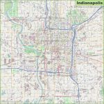 Large Detailed Map Of Indianapolis   Printable Map Of Indianapolis