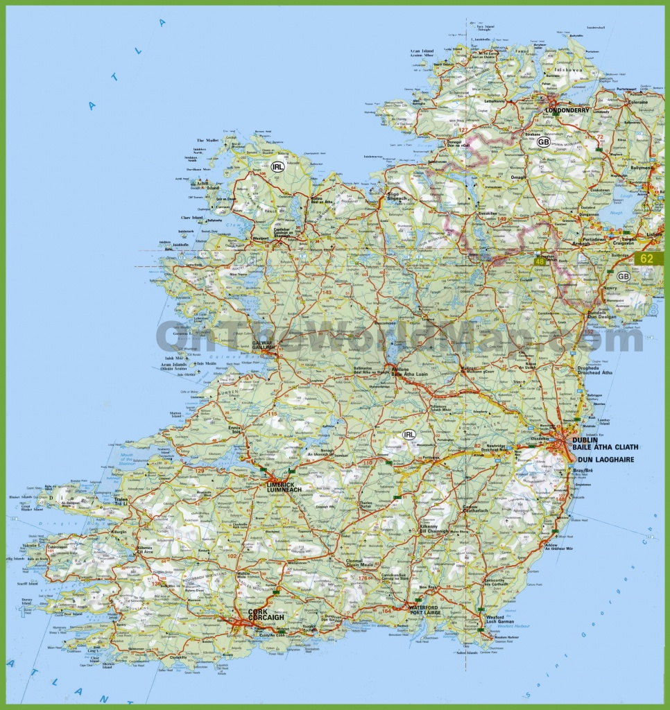 Large Detailed Map Of Ireland With Cities And Towns - Large Printable Map Of Ireland