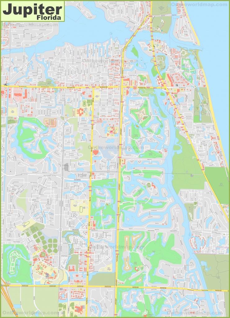 Large Detailed Map Of Jupiter - Jupiter Inlet Florida Map