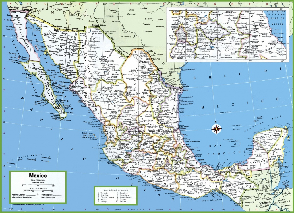 Large Detailed Map Of Mexico With Cities And Towns - Printable Map Of Mexico City