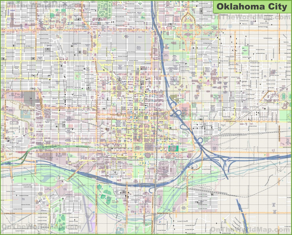 Large Detailed Map Of Oklahoma City - Printable City Street Maps