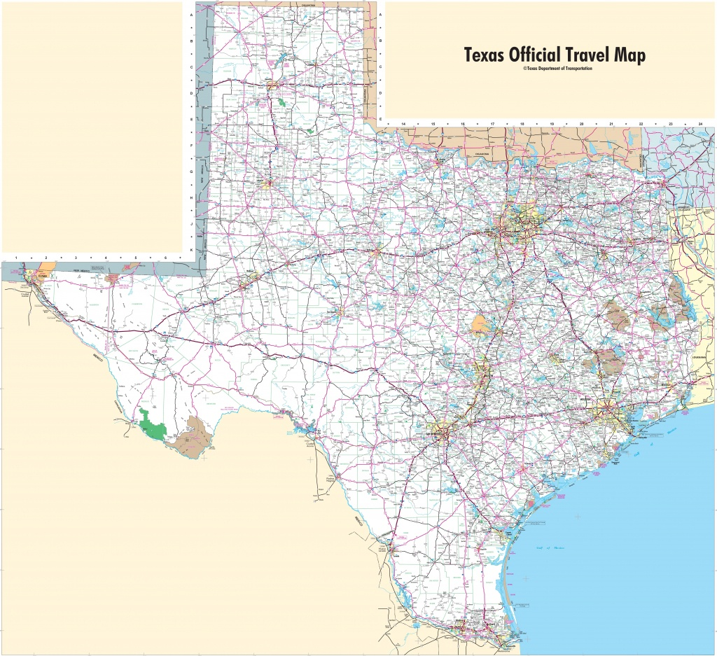 Large Detailed Map Of Texas With Cities And Towns - State Map Of Texas Showing Cities