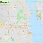 Large Detailed Map Of Vero Beach   Florida Street Map