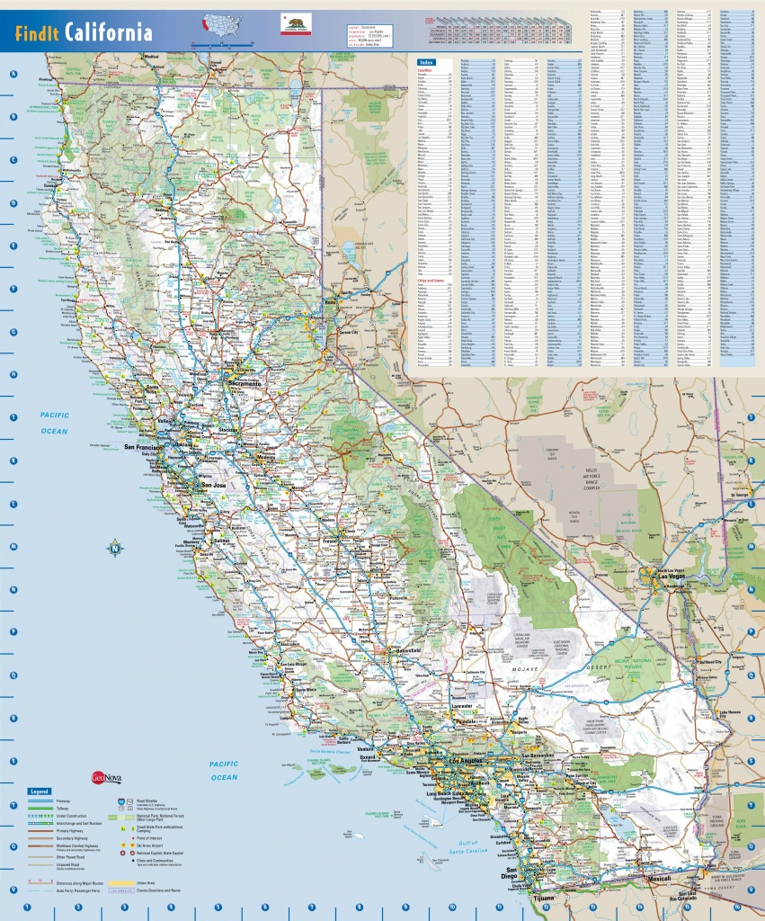 Large Detailed Road Map Of California State. California State Large - California Road Conditions Map