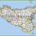 Large Detailed Road Map Of Sicily - Printable Map Of Sicily