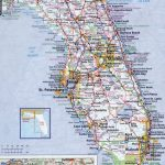 Large Detailed Roads And Highways Map Of Florida State With All   Road Map Of North Florida