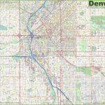Large Detailed Street Map Of Denver   Printable Map Of Denver
