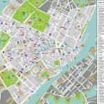 Large Detailed Tourist Map Of Copenhagen City Center. Copenhagen - Printable Map Of Copenhagen