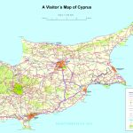 Large Detailed Tourist Map Of Cyprus   Printable Map Of Cyprus