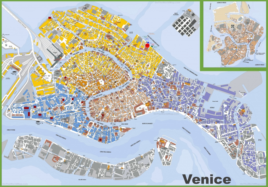 Large Detailed Tourist Map Of Venice - Printable Tourist Map Of Venice Italy