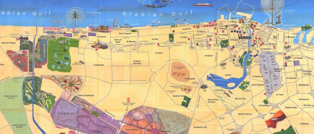 Large Dubai Maps For Free Download And Print | High-Resolution And - Dubai Tourist Map Printable